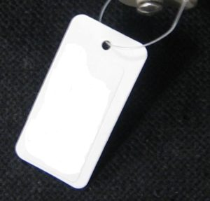 Tag with barcode and cable tie